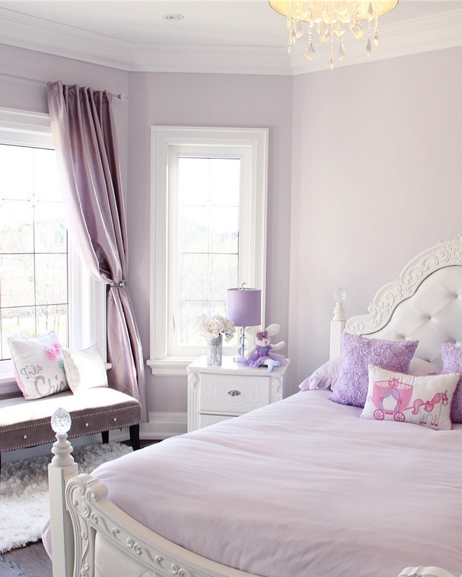 Lavender kids bedroom I was on the hunt for the perfect shade of lavender for my middle daughters room and when the first wall was painted it was love at first sight