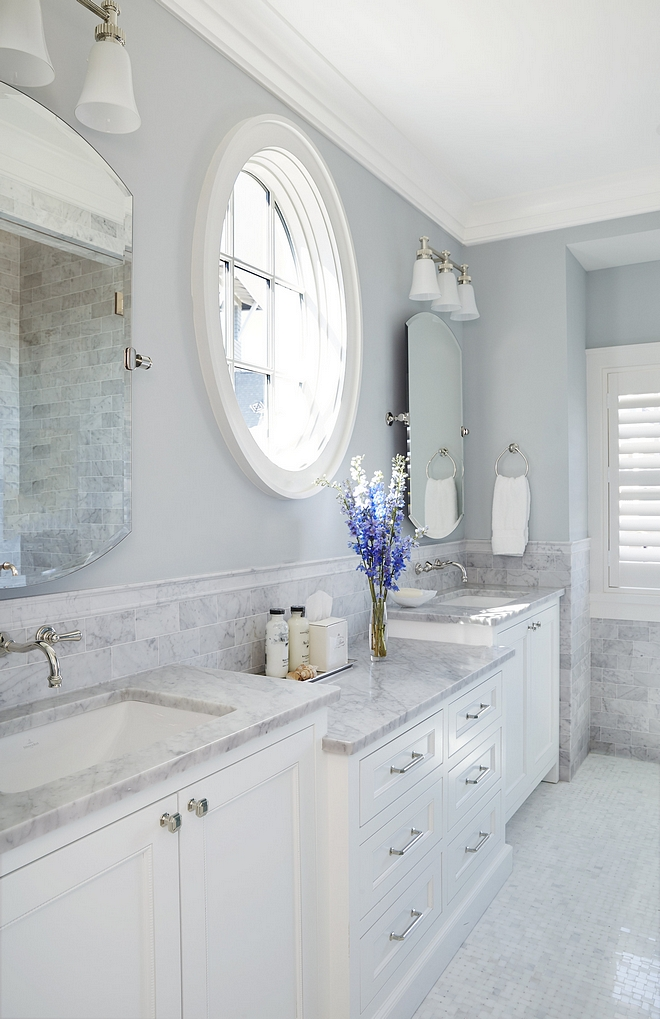 Blue Grey Bathroom Benjamin Moore Beacon Gray