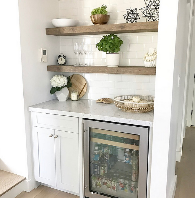 Kitchen Wet Bar ideas Floating shelves are Cedar and stained 50% Classic Gray and 50% Weathered Oak Kitchen Wet Bar ideas Kitchen Wet Bar ideas Kitchen Wet Bar ideas