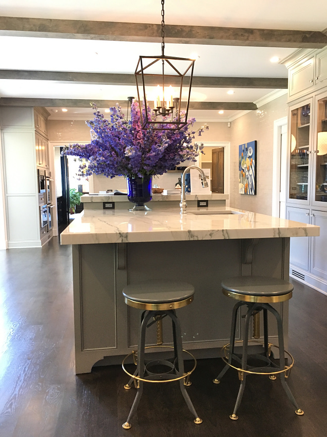 Kitchen island with prep sink This kitchen is very spacious and features two islands. The main island we see above, features a prep sink Kitchen island with prep sink ideas Kitchen island with prep sink