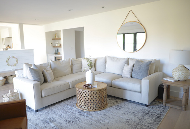 Linen Sectional Modern farmhouse with Linen Sectional Linen Sectional Pottery Barn Square Arm Sectional