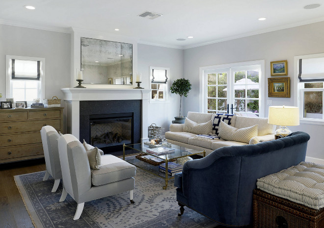 Living room color scheme Blue white and grey living room color scheme