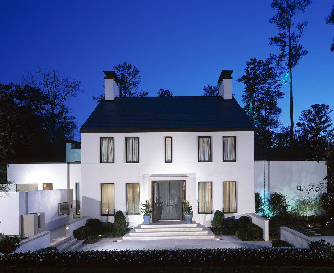 Modern Colonial Homes Modern Colonial Home Exterior Stucco Modern Colonial