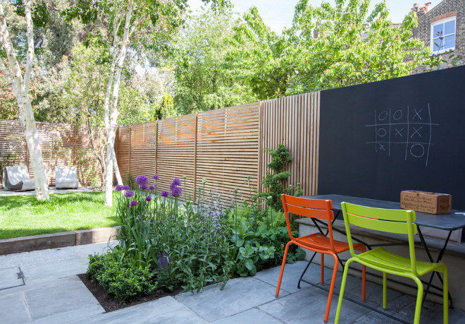 Modern fence Backyard fence western red cedar fencing and chalkboard fence backyard