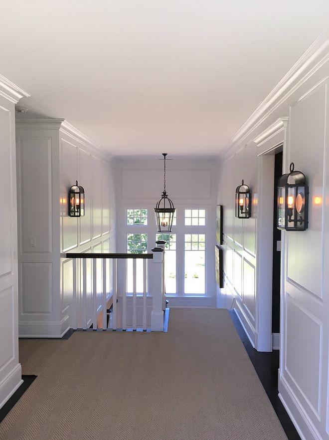 Benjamin Moore Decorators White PM3 in semi-gloss paneling paint color