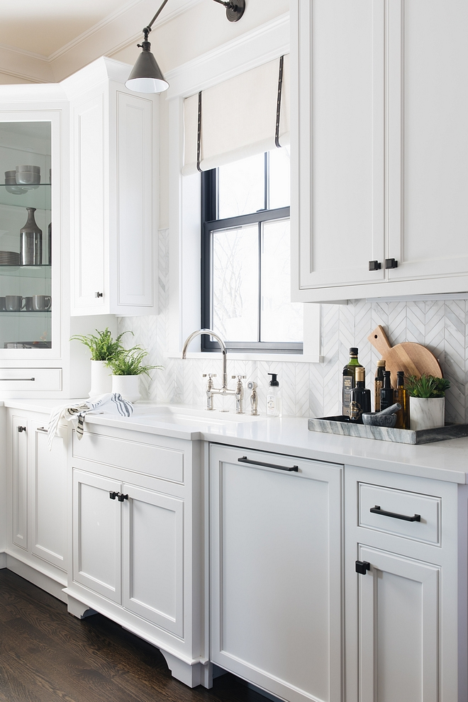 white kitchen cabinets black hardware new construction farmhouse with front porch home bunch 28698