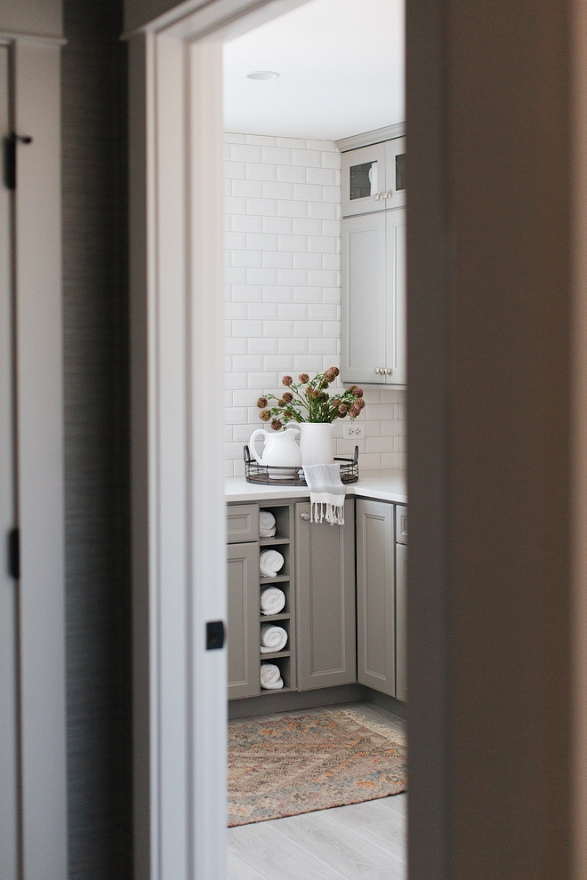 Grey Laundry Room Revere Pewter by Benjamin Moore