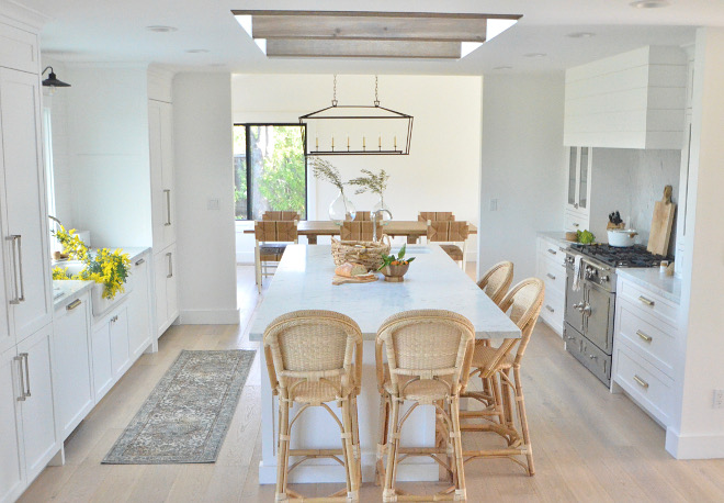 White Kitchen with skylight and beams White Kitchen with skylight and beam ideas White Kitchen with skylight and beams