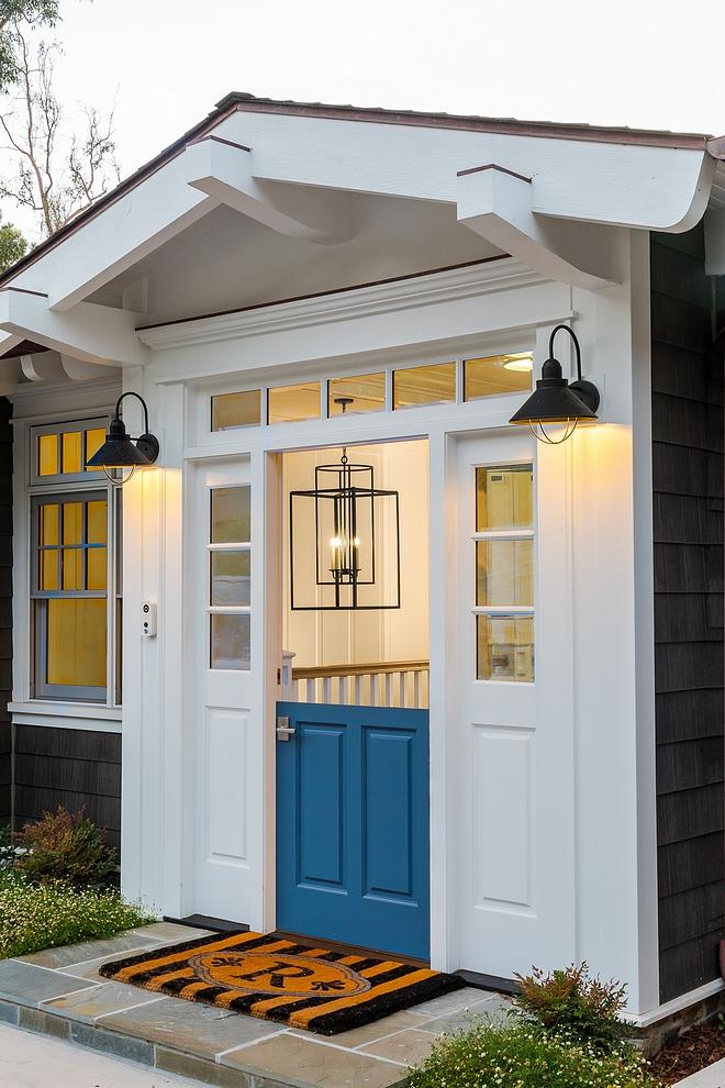 Blue Dutch Door Style front door paint color Blue Print DE575 Dunn Edwards Dutch Door Style