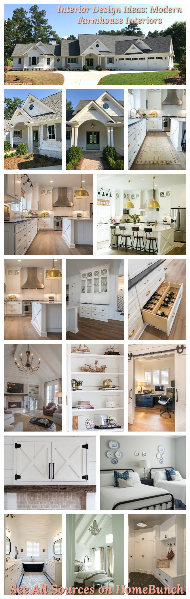 Interior Design Ideas Modern Farmhouse Interiors See Paint Colors and All Decor sources on Home Bunch blog