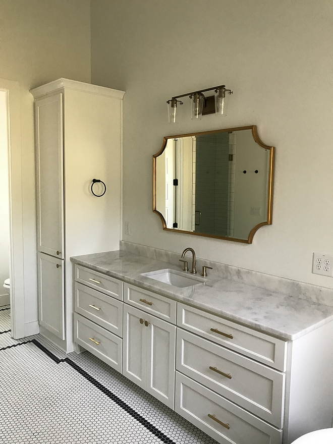 Bathroom Brass Hardware and brass mirror Bathroom Brass Hardware brass mirror sources on Home Bunch