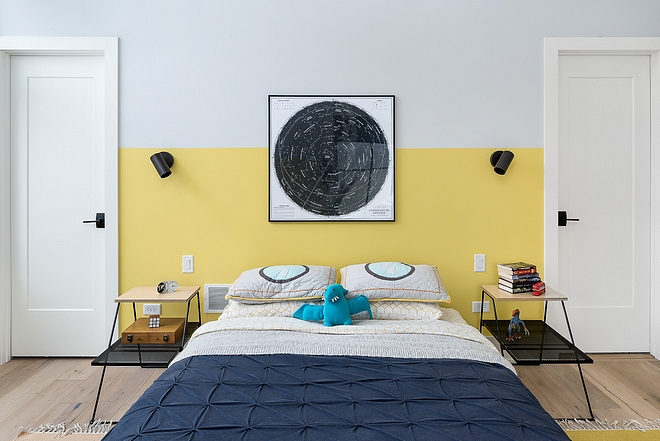 Two-Toned Kids Bedroom Two-Toned Kids Bedroom Ideas Two-Toned Bedroom Paint colors