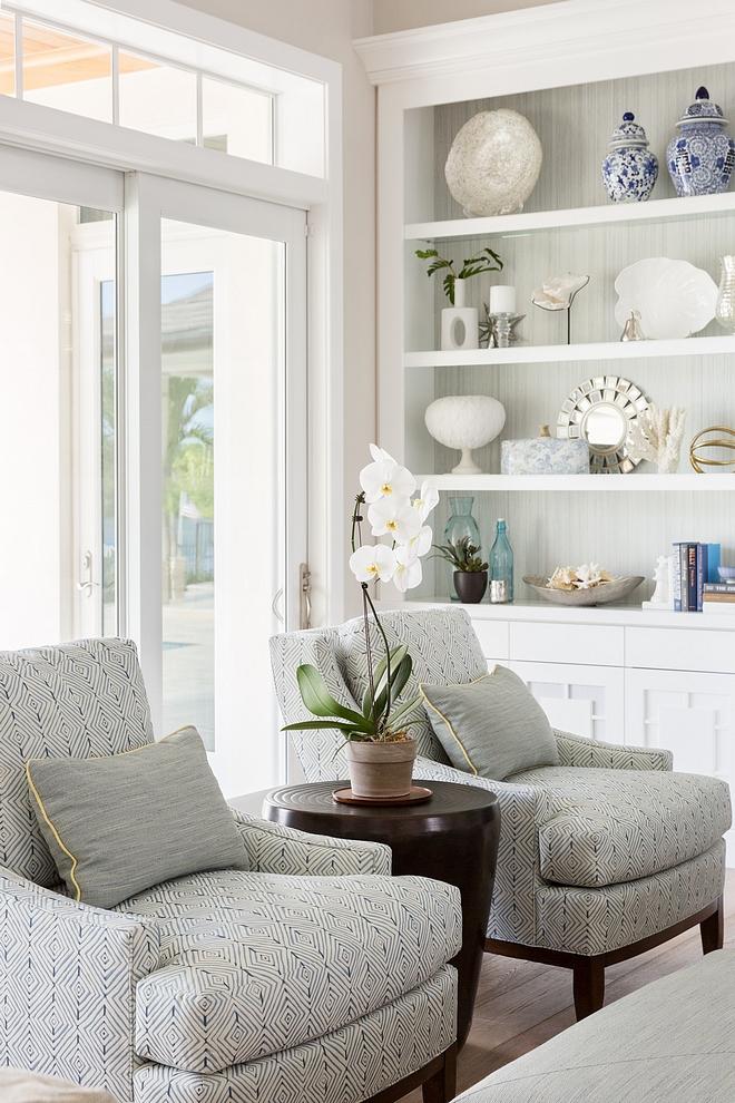Living room chairs Chairs Kravet Bellair Club Chairs Fabric Kravet #32826-5 Mattydale Rain