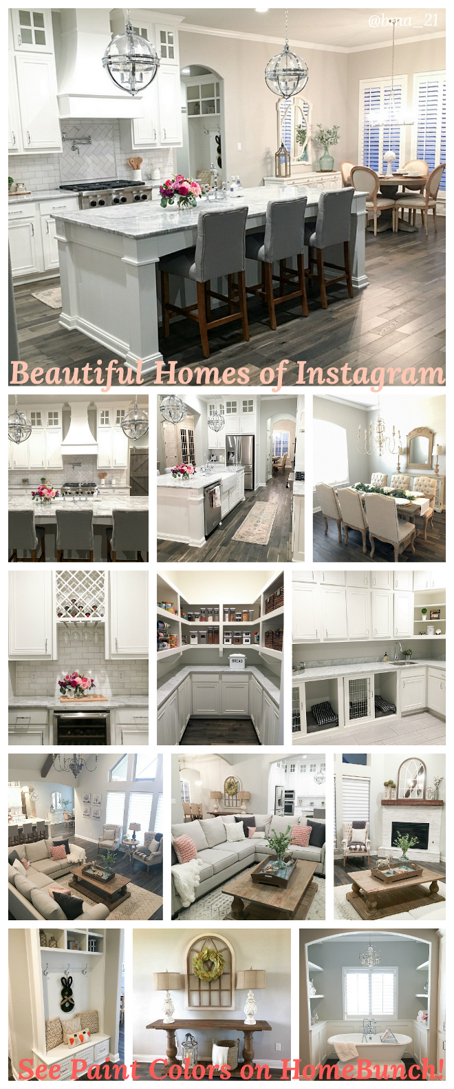 Beautiful Homes of Instagram Paint Colors House Tour