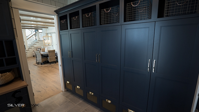 Hale Navy by Benjamin Moore Mudroom lockers paint color Hale Navy by Benjamin Moore Hale Navy by Benjamin Moore