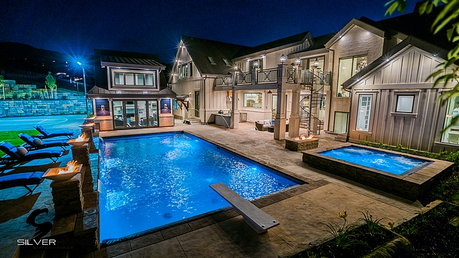 Pool and spa backyard ideas
