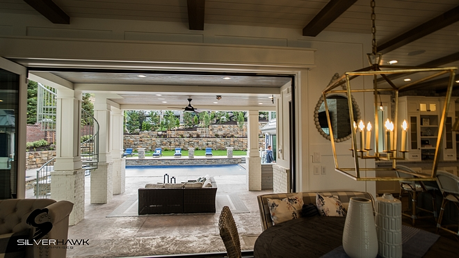 Patio Doors Accordion doors both in kitchen and in pool house are SIERRA Pacific Patio Doors Accordion doors Patio Doors Accordion doors #PatioDoors #Accordiondoors
