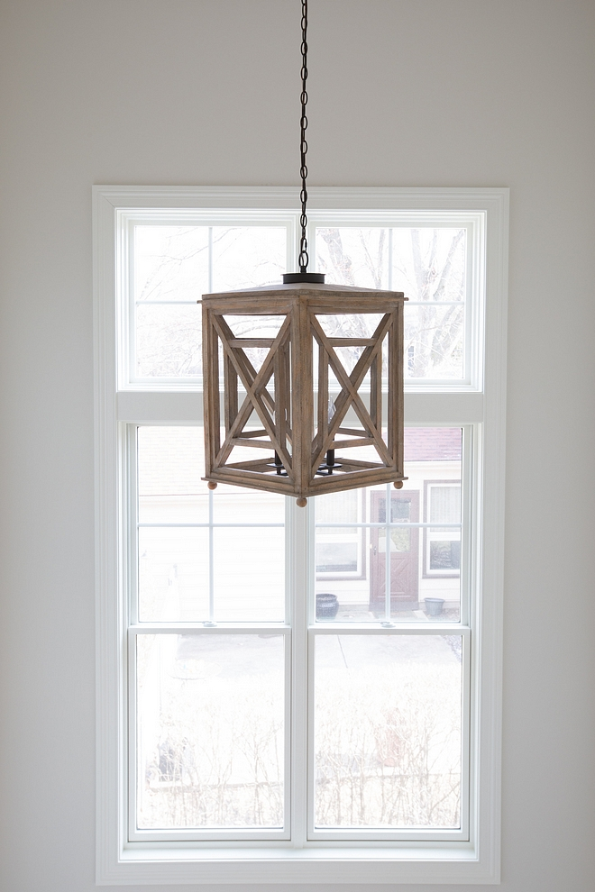 Wood Lantern Light 4-Light Lattice Chandelier, White Oak Lighting Wood Pendant Light source on Home Bunch