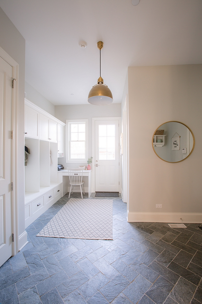Mudroom stone herringbone flooring Mudroom tile Mudroom flooring mudroom herringbone floor tile #mudroom #floortile #herringbone #stonetile