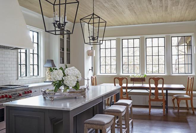 Benjamin Moore Bronze Tone Kitchen Black Windows Kitchen with black window The window mullions are painted in Benjamin Moore Bronze Tone