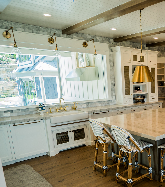 Kitchen farmhouse kitchen with brass faucet Kitchen farmhouse kitchen with brass faucet Kitchen farmhouse kitchen with brass faucet