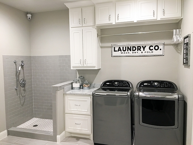 Laundry Room Pet Shower Neutral Laundry Room Pet Shower Ideas