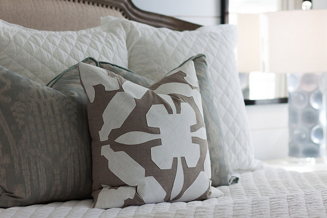 Bedroom Pillows Neutral bedroom pillows bedroom pillow sources on Home Bunch