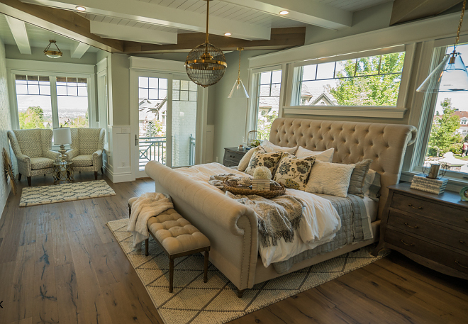 Master Bedroom paint color Gray Owl OC-52 by Benjamin Moore