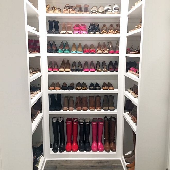 Shoe closet shelving ideas Who wouldn't love to have this much space for shoes