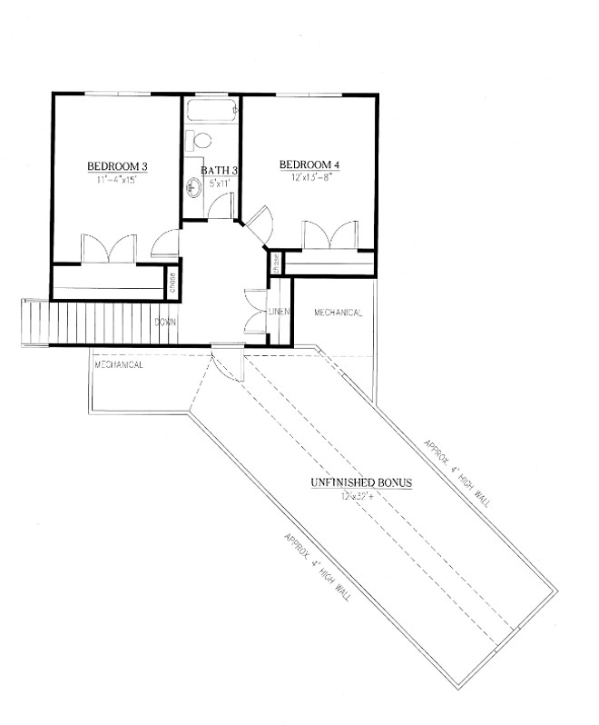 Modern Farmhouse Upper Level Floor Plan