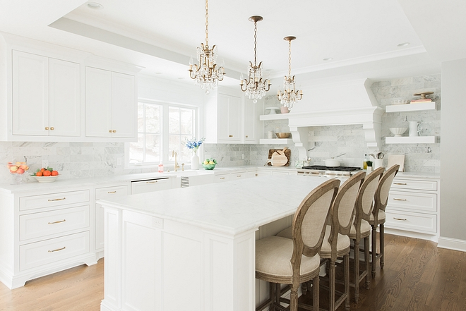 White kitchen nothing but white can be found in this kitchen heaven #whitekitchen