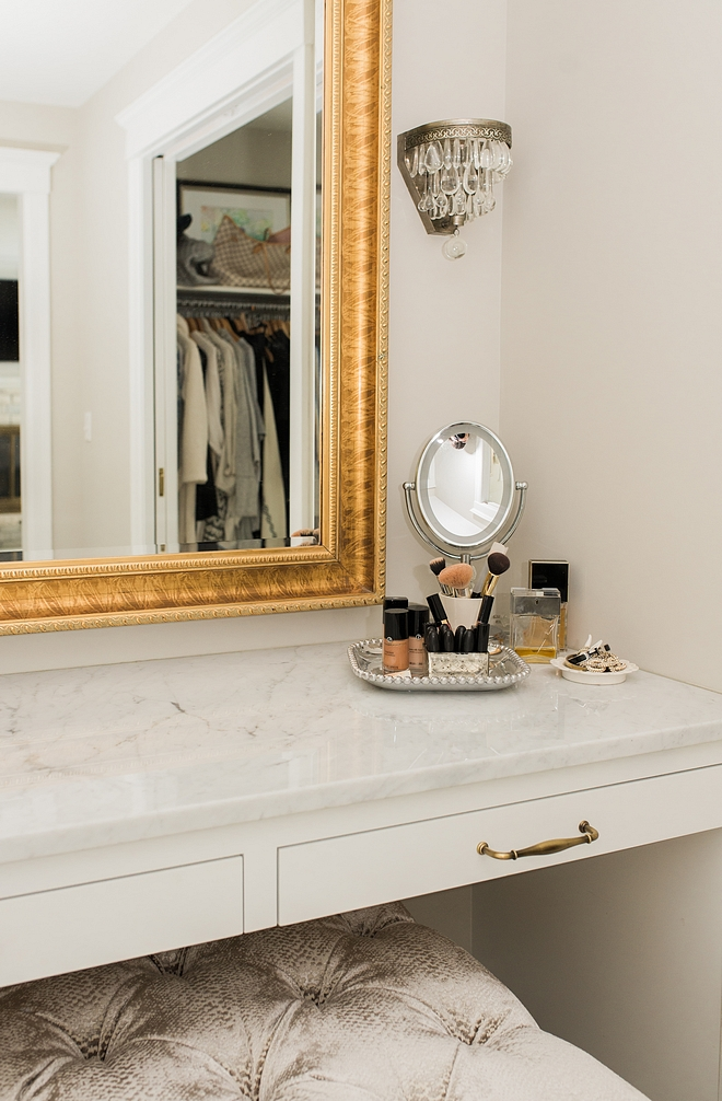 Vanity Makeup vanity built in make up vanity closet vanity with white marble countertop and built in drawers