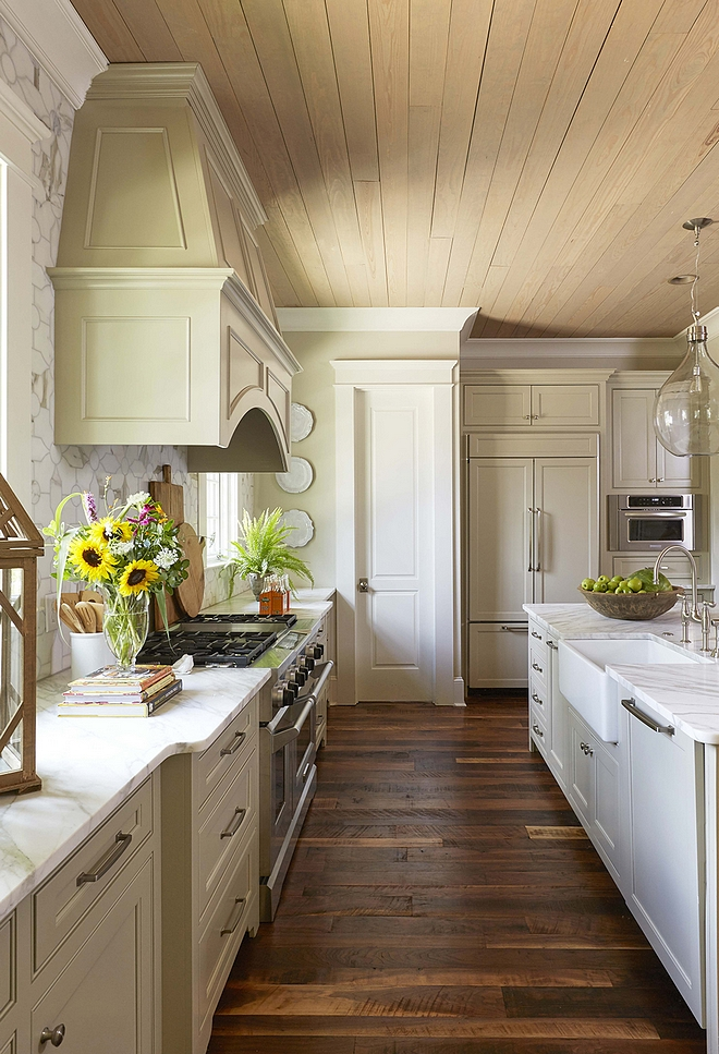 White Cabinets Gray Countertops