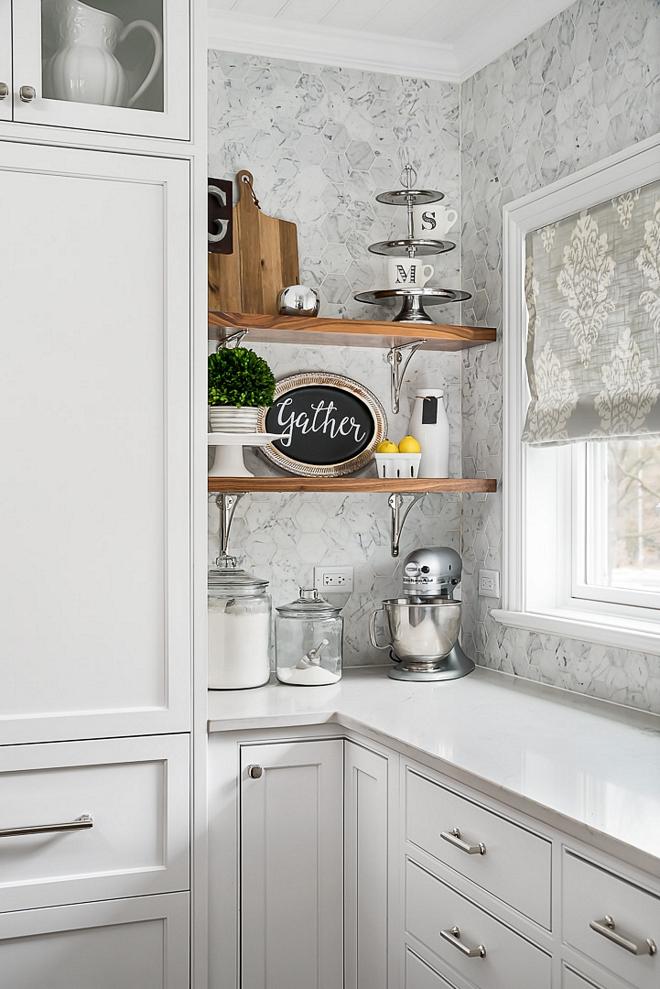 "Kitchen backsplash Virginia Tile, Benatino Gioia Honed Hex 4"""