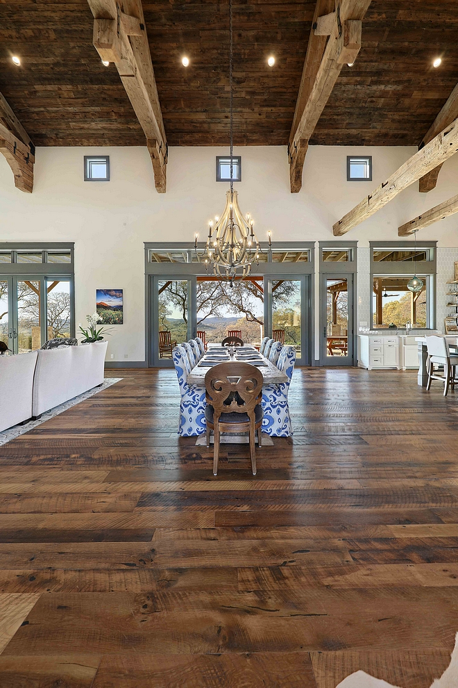 Rustic Hardwood Flooring Reclaimed Oak Sovereign Plank wood flooring The milling process is skip planed to preserve the original patina and naturally oiled #RusticHardwoodFlooring #ReclaimedOak #ReclaimedHardwoodFlooring #PlankHardwoodFlooring