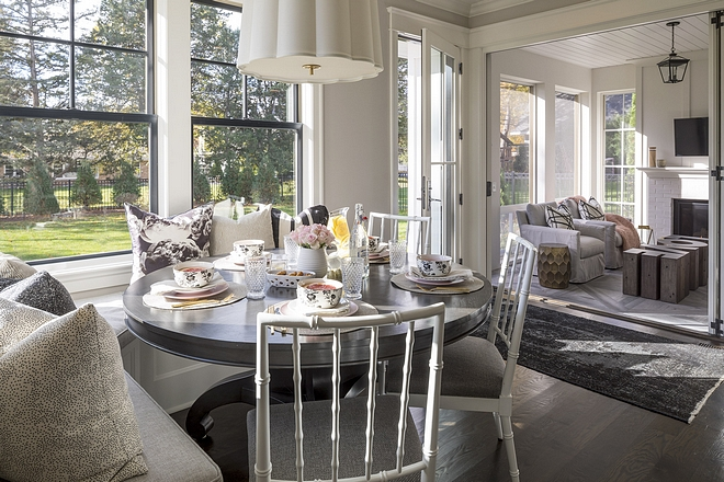 Breakfast room opens to screened-in porch Breakfast room Breakfast room windows Breakfast room #Breakfastroom