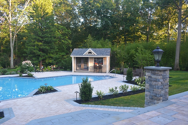 Backyard Renovation Backyard Renovation Ideas Backyard Renovation backyard we added an upper terrace coming off of the house, an outdoor kitchen, the patio around the pool, the pool house, tons of landscaping and even a firewall  Backyard Renovation #BackyardRenovation