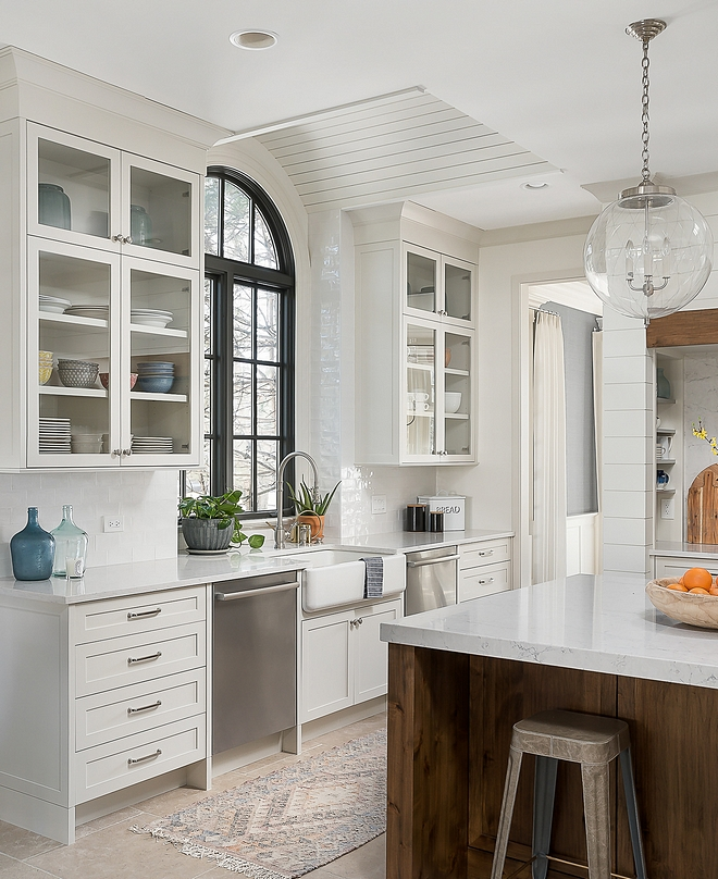 Benjamin Moore OC-23 Classic Gray The perimeter cabinetry and walk in pantry are Maple painted Benjamin Moore OC-23 Classic Gray Benjamin Moore OC-23 Classic Gray Benjamin Moore OC-23 Classic Gray #BenjaminMooreOC23ClassicGray #BenjaminMoore #BenjaminMoorepaintcolors #paintcolors