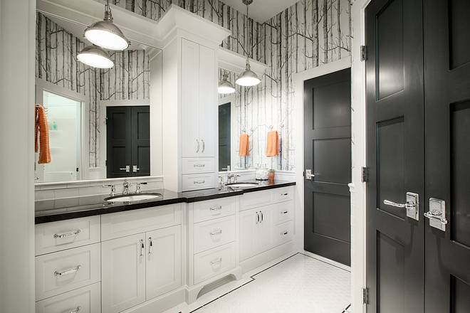 Jack Jill Bathroom Black and white Jack Jill Bathroom Jack Jill Bathroom #JackJillBathroom