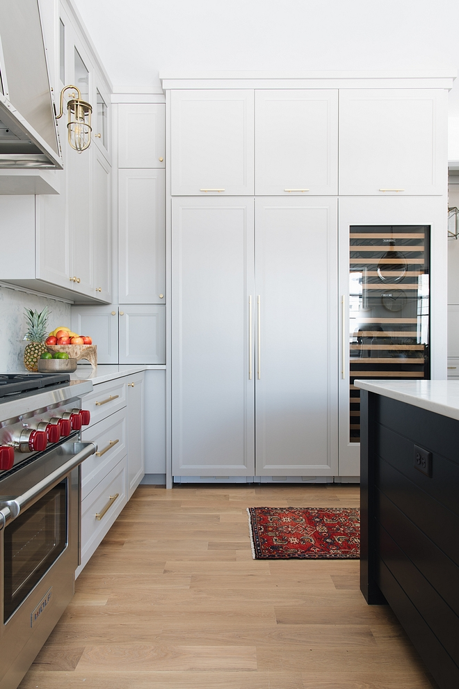 The fridge cabinet wall features extra storage and also a full-size wine/beverage refrigerator Kitchen Kitchen cabinet The fridge cabinet wall features extra storage and also a full-size wine/beverage refrigerator