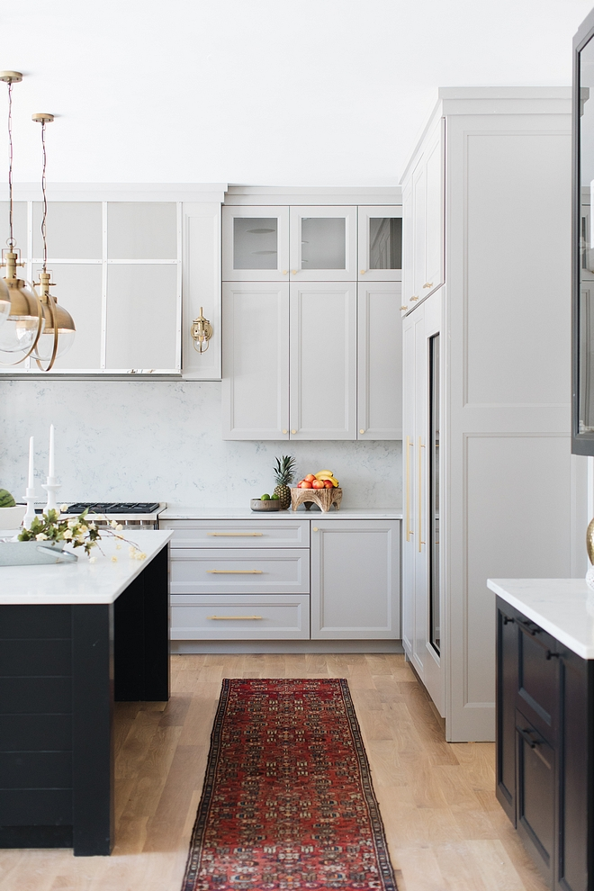 Benjamin Moore Grey Husky Benjamin Moore Grey The perimeter cabinets are painted in this beautiful, pale gray; Benjamin Moore Grey Husky Husky pale gray paint color Benjamin Moore Grey Husky Benjamin Moore Grey Husky #palegray #paintcolor #BenjaminMooreGreyHusky