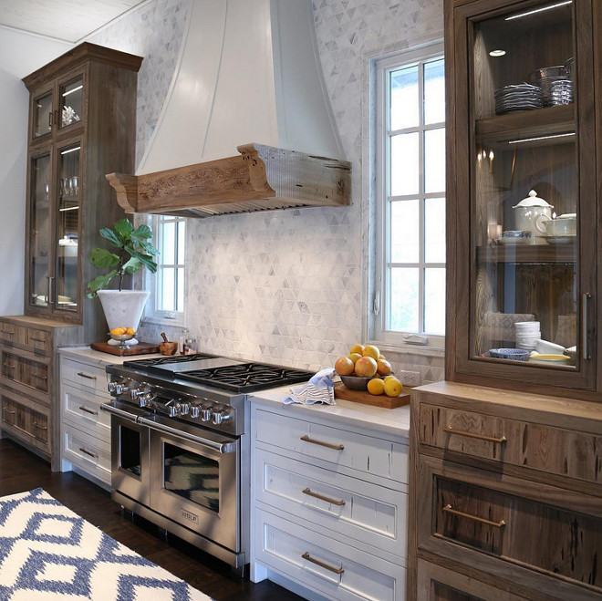 Pecky Cypress Kitchen Cabinet