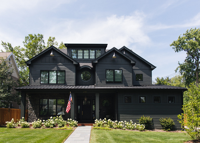 Black house paint color Sherwin Williams SW 7062 Rock Bottom Black house paint color Sherwin Williams SW 7062 Rock Bottom Black house paint color Sherwin Williams SW 7062 Rock Bottom #Blackhouse #paintcolor #SherwinWilliamsSW7062RockBottom