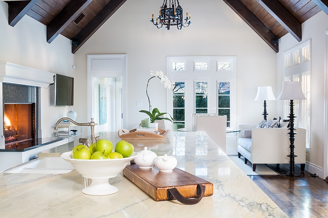 Home Selling Tips Kitchen Staging Leave your counters mostly empty - you can add some decor on your island only - and clean every inch of your kitchen. That include cabinets - inside and out