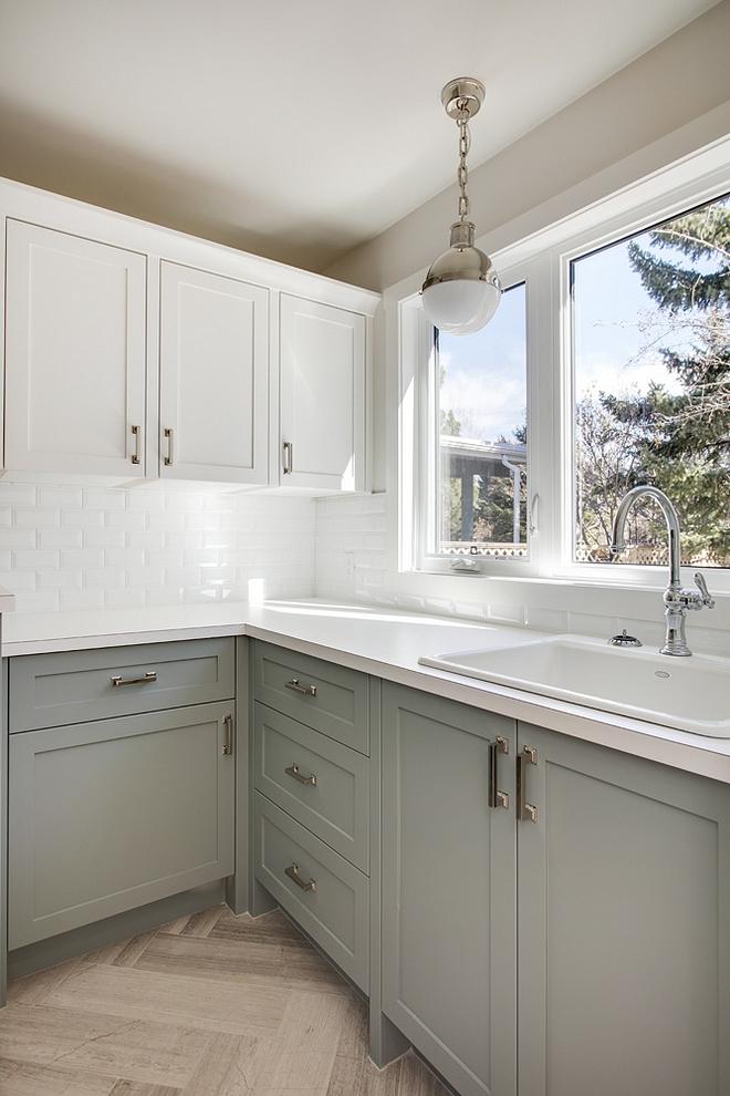 Benjamin Moore Sea Glass CSP-735 Benjamin Moore Sea Glass Laundry Room Cabinet Paint Color #LaundryRoom #Cabinet #PaintColor #BenjaminMooreSeaGlassCSP735 #BenjaminMooreSeaGlass