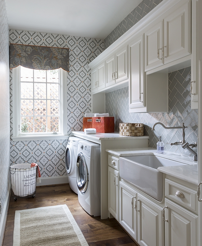 Laundry Room Sherwin Williams Alabaster Features Off White Cabinets Painted In