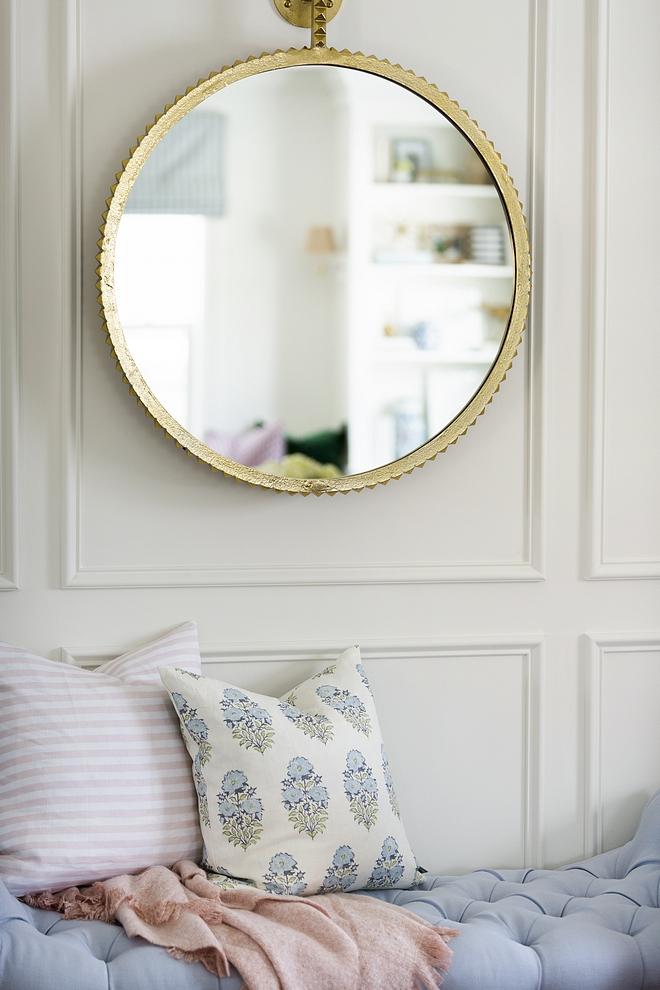 Beautiful home decor interior design with pastel colors pastel color palette brass blush pink pastel blue pastel pink light florals stripes #interiors #interiordesign #pastels #pastelcolors #pastelcolorpalette #beautifulinteriors #blue #blushpink #stripes #brass #colorpalette