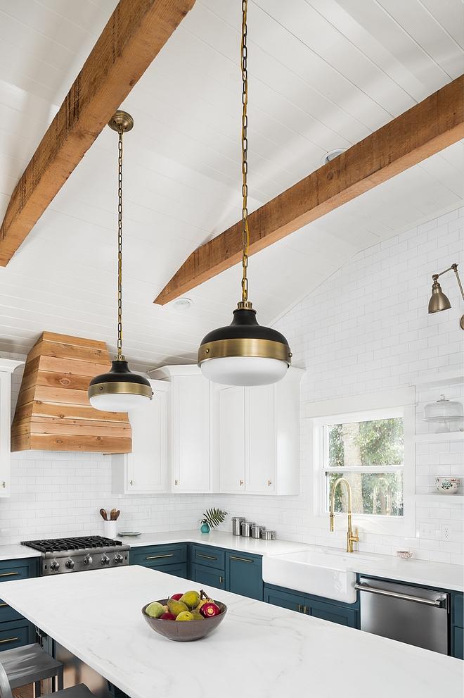 Cedar Floating Shelves Kitchen