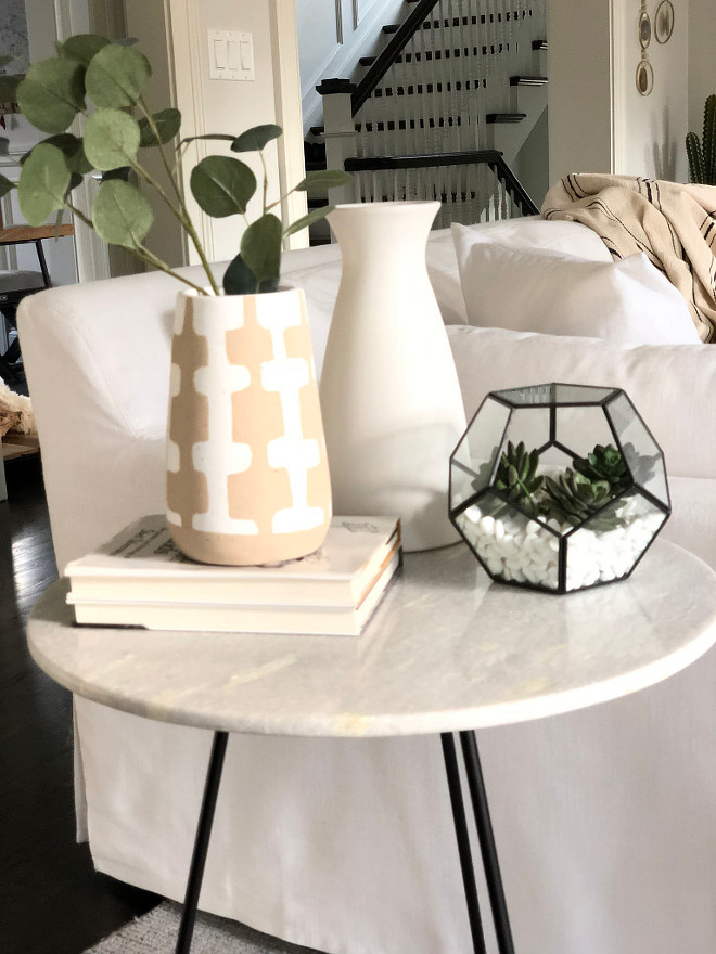 Accent Table Decor Living Room Accent Table Decor White Marble and Metal Round Accent Table source on Home Bunch White Marble and Metal Round Accent Table #WhiteMarbleandMetalsidetable #Roundsidetable #AccentTable