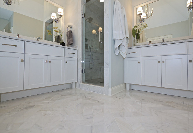 Separate Bathroom Vanity Layout I like that our vanities are separate, this way we stay out of each other's way in the morning Bathroom Vanity Layout #BathroomVanity